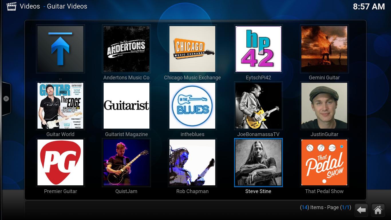 Kodi - Guitar Videos Addon v0.2.2